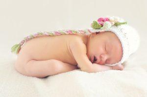Süßes Baby am schlafen