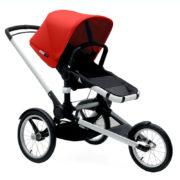 Bugaboo Runner Kinderwagen mit Sonnendach in Rot - komplett